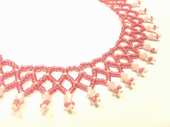 Netted Beadwork Necklace Jewellery Making Kit with SWAROVSKI® ELEMENTS Rose Pink